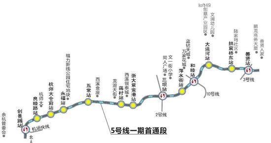 杭州最长的地铁线——5号线来了!图片