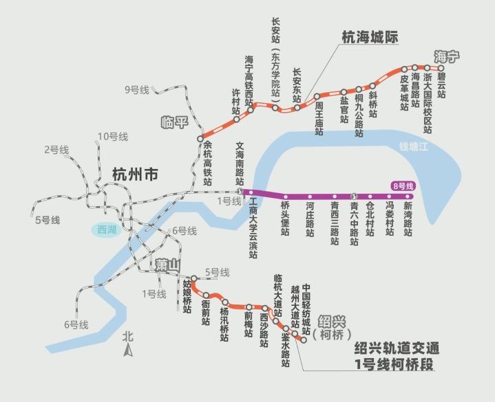 杭州都市区轨道交通线网总里程将达到391公里