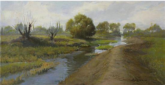 商亚东油画作品 《没有方向的河流1》