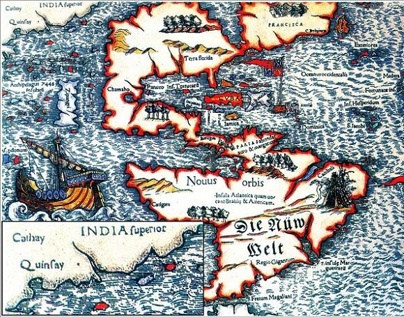 Marco Polo China Quinsay Cathay India Superior Map Quinsay