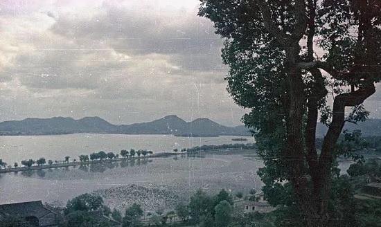 彩色西湖,彩色新中国,杭州老照片,西湖影像,西湖照片